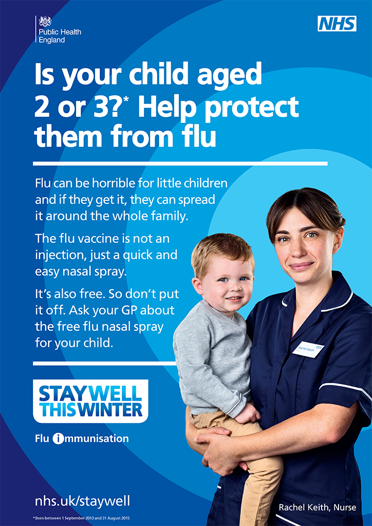 Flu jab parents of 1 and 2 year olds